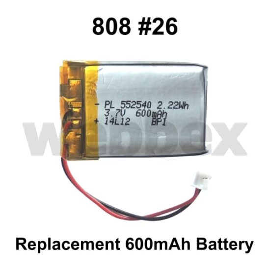 808 #26 Replacement 600mAh Battery