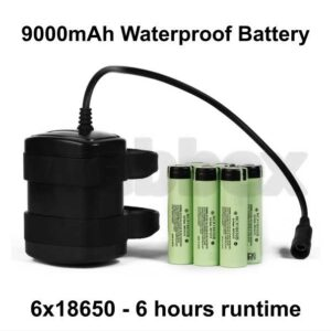 9000mAh Waterproff Bike Light Battery