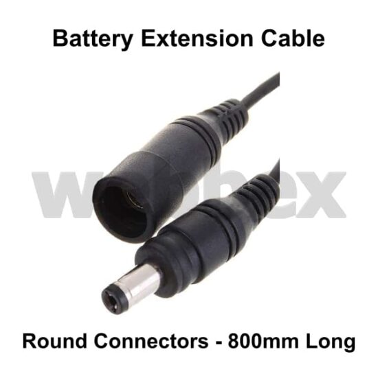 Battery Extension Cable Round Connectors