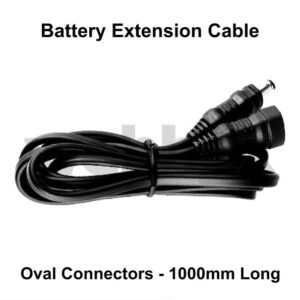 Battery Extension Cable Oval Connectors