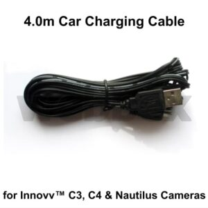 Car Charging Cable for C3, C4 & Nautilus Cameras