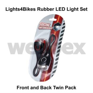 Rubber LED Bike Light Set