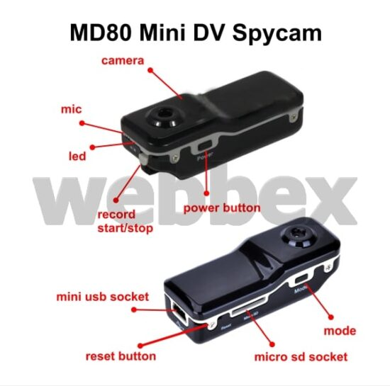 MD80 Mini DV Spy Camera Schematic