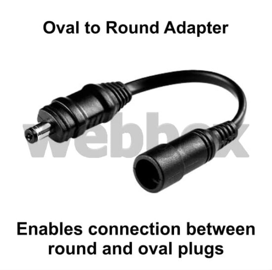 Oval to Round Adapter