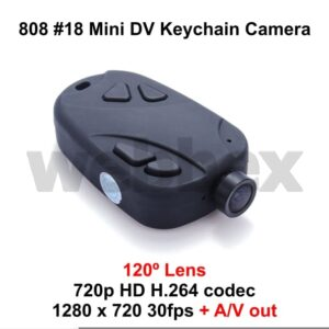 808 #18 Wide Angle Keychain Camera