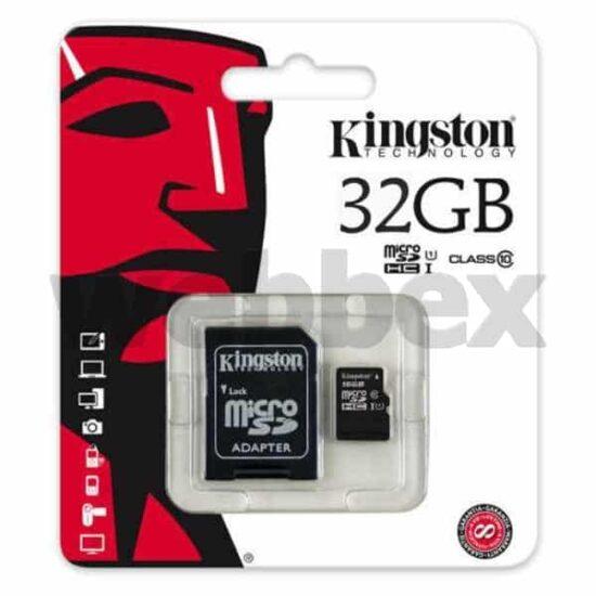 Kingston Micro 32gb Class 10 SHDC Card