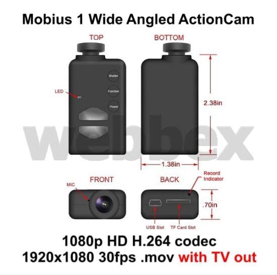 Mobius Wide-Angle Lens D Camera