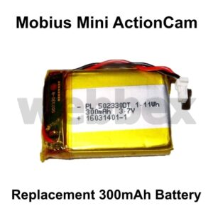 Mobius Mini Replacement 300mAh Battery
