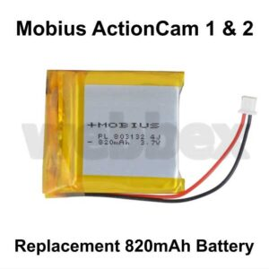Replacement Battery for the Mobius ActionCam 1 and 2