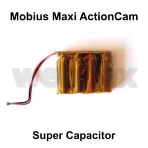 Super Capacitor for the Mobius Maxi ActionCam