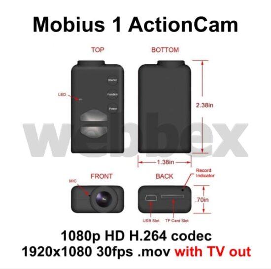 Mobius 1 Action Camera Schematic