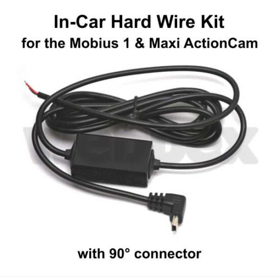 Mobius In Car Hardwire Kit with 90 Degrees Connector