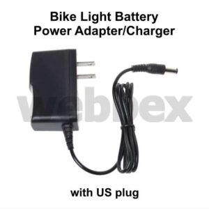 Bike Light Battery Power Adapter/Charger US