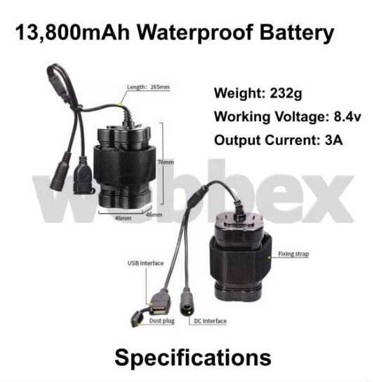 Lights4Bikes 13800mAh Bike Light Battery